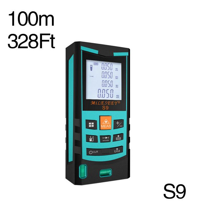 Mileseey S9 100m 328ft Digital Laser distance meter range measure Area volume tool - Elecmaster store