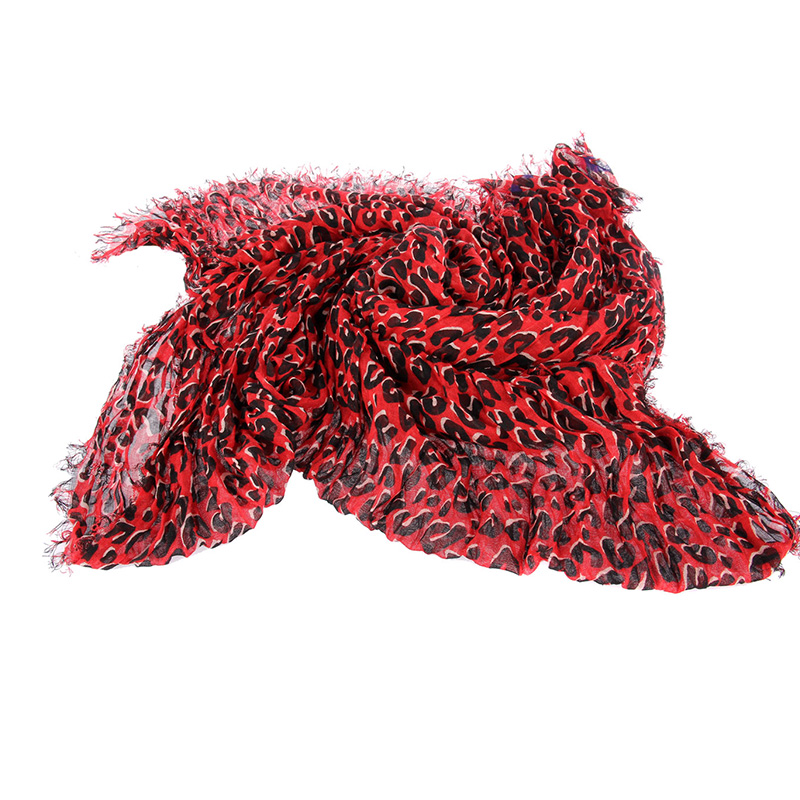 2016 Newest Wrinkle Leopard Scarf Fashion Women Wraps Brand wool Scarves 200*150cm Warm cotton Shawls Free shipping(China (Mainland))