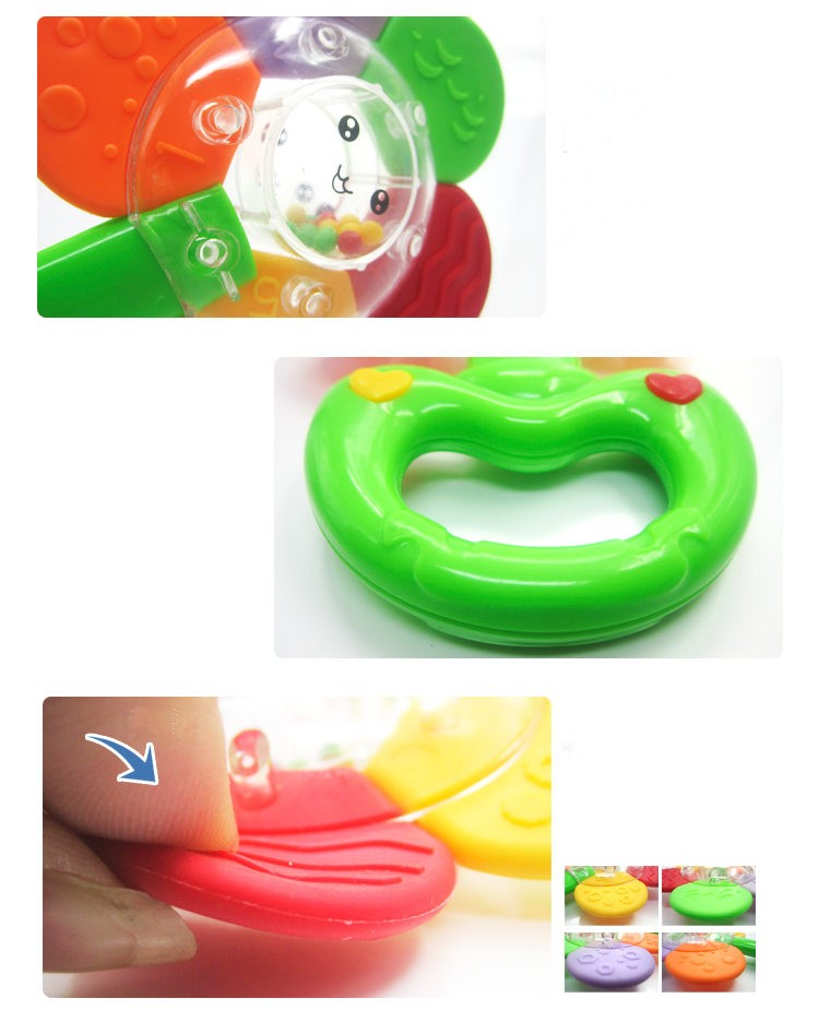 Sunflower Baby Teether&Rattles Razbaby Molar Toy for Training Toddler Chewing & SootheTeething Pain And Massage Infant's Gum