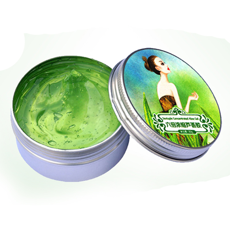 Hot Sale Six times concentrated aloe vera gel natural acne face cream 30G Skin whitening cream skin care(China (Mainland))