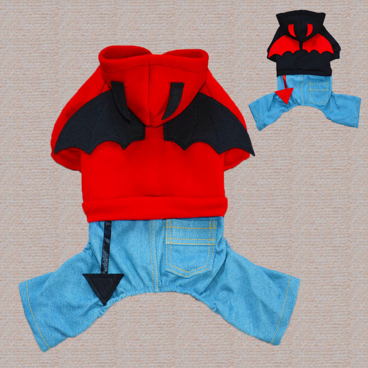 Wild Devil cowboy suit for dog pet Teddy autumn/winter clothing pet dog clothes apparel Dog Jumpsuits & Rompers(China (Mainland))