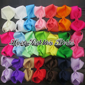 120pcs/lot 6 Large Hairbows Big Baby Bows Grosgrain Ribbon Hair Bow Accessories For Girls  Hair ClipsОдежда и ак�е��уары<br><br><br>Aliexpress