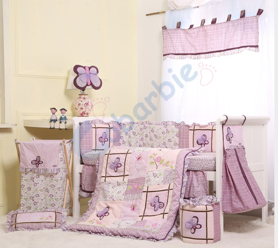 butterfly baby bedding crib sets 2