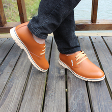 Buy Small yards shoes spring autumn lacing round toe low single shoes genuine leather business casual leather 4546 47 plus size for $47.50 in AliExpress store