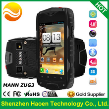 2014 Best New MANN ZUG3 4'' Quad core Rugged Smart Phone 3G Android4.3 IP68 waterproof dustproof Rugged Phones(China (Mainland))