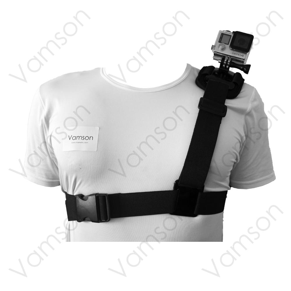 Go Pro Accessories Black Edition  Shoulder Chest Harness Tripod Strap Mount For GoPro hero 4 3+2 1 Xiaomi Yi SJCAM Camera VP205