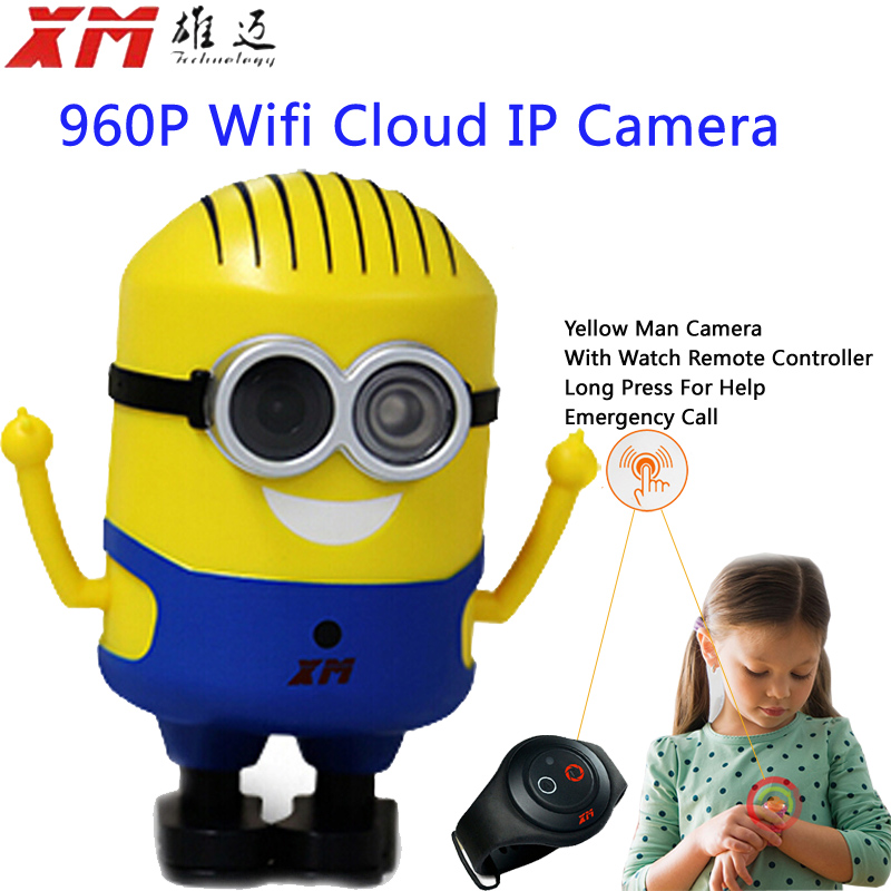 960P HD Smart P2P Baby Monitor Network CCTV Security Camera Home Protection Mobile Remote Cam Cute Yellow Man <br><br>Aliexpress