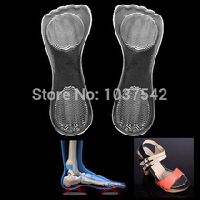 2PCS/Lot Feet care gel insoles with arch support and orthopedic high heels shoes pad sandals and washable IA969 P