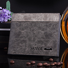 Fashion! Genuine Leather Wallet Mens quality cards holders carteras wallets different pattern print purse carteira for men(China (Mainland))