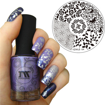 YZWLE 1 Pc New Nails Template Nail Stamping Plates Hand-painted Original Designs Image Transfer Print