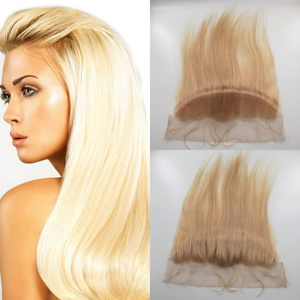 8A Full Lace Frontal Closure Free Part Cheap Hair Malaysian 13*4 Ear to Ear Lace Frontals Bleached Knots with Baby Hair<br>