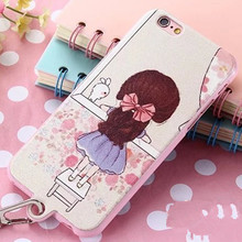Lovely Cartoon Hello Kitty Soft TPU Case for iPhone 6 Plus 6S Plus 5 5 Butterfly