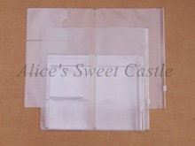 Pvc Zipper bag FOR Traveler's Notebook Accessory card pocker bag storage A5/Standard/Pocket/Passport 4size for cowhide diary(China (Mainland))