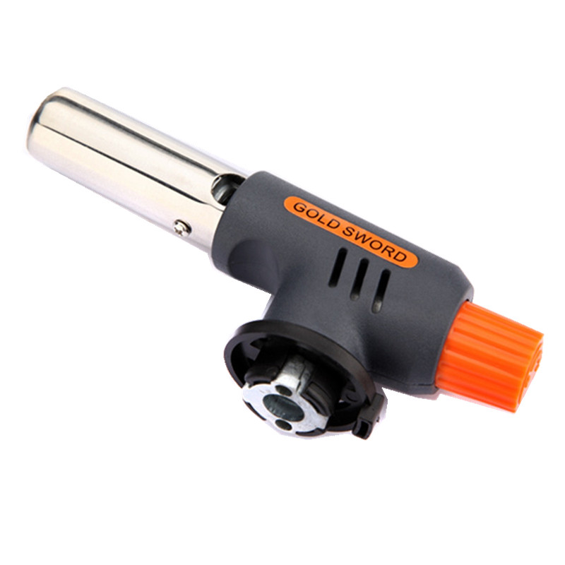 Excellent quality Gas Torch Flamethrower Butane Burner Auto Ignition Camping Welding BBQ Outdoor Travel H1E1(China (Mainland))