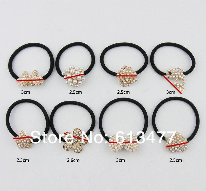 (Min order $10)Colorful flower hairband for women/girl ponytail holder elastic hair band ties hair accessoryHB-23-3(China (Mainland))