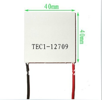 2pcs TEC1-12709 12V9A  80W 40*40 TEC Thermoelectric Cooler Peltier 12709  Best pirces and Free shipping _Cooling system