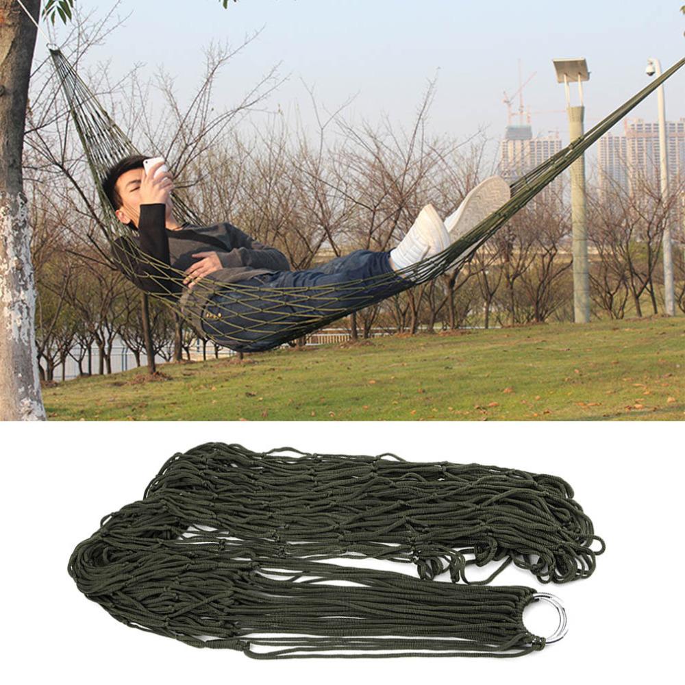 1Pcs Portable Garden Outdoor Camping Travel furniture Mesh Hammock swing Sleeping Bed Nylon Hang Net(China (Mainland))