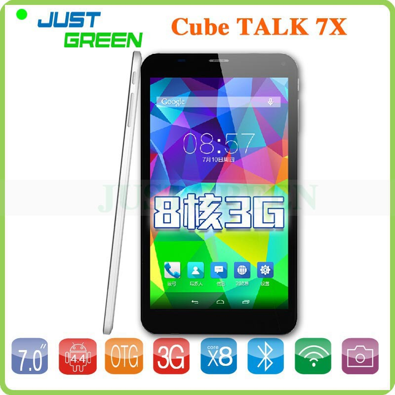 7'' IPS 3G Phone Call Tablet PC Cube Talk7X Talk 7X MTK8392 Octa Core 1GB 8GB Dual SIM Phablet Android 4.4 GPS Bluetooth WIFI(China (Mainland))