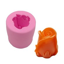 CHUANGGE Silicone Candle Molds Candle Making Supplies Flower Ring Baking Mold DIY Home Decoration DIY Gifts(China)