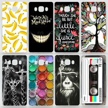 Case For Samsung Galaxy J7 (2016) J710 Colorful Printing Drawing Plastic Hard Cover for Samsung J710 Transparent Phone Cases