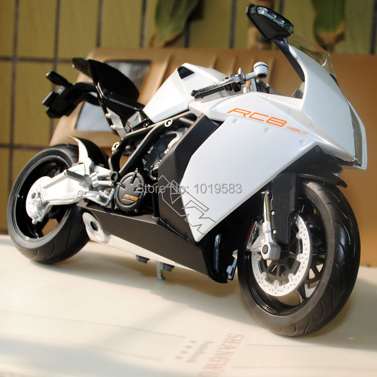 Free Shipping Brand New Cool 1/10 Diecast Motorcycle Model Toys KTM RC8 White Metal Motorbike Model Toy For Kids/Children/Gift(China (Mainland))