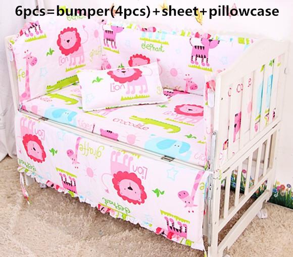 Discount! 6/7pcs Newborn Cartoon Crib Bedding Quilt CoverPillow Bumpers Sheet Cot Bed bedding set,120*60/120*70cm<br><br>Aliexpress