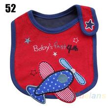Wholesale Baby Girl Boy Towel Saliva Waterproof New Kids Cartoon Pattern 3 Layer Toddler Lunch Bibs