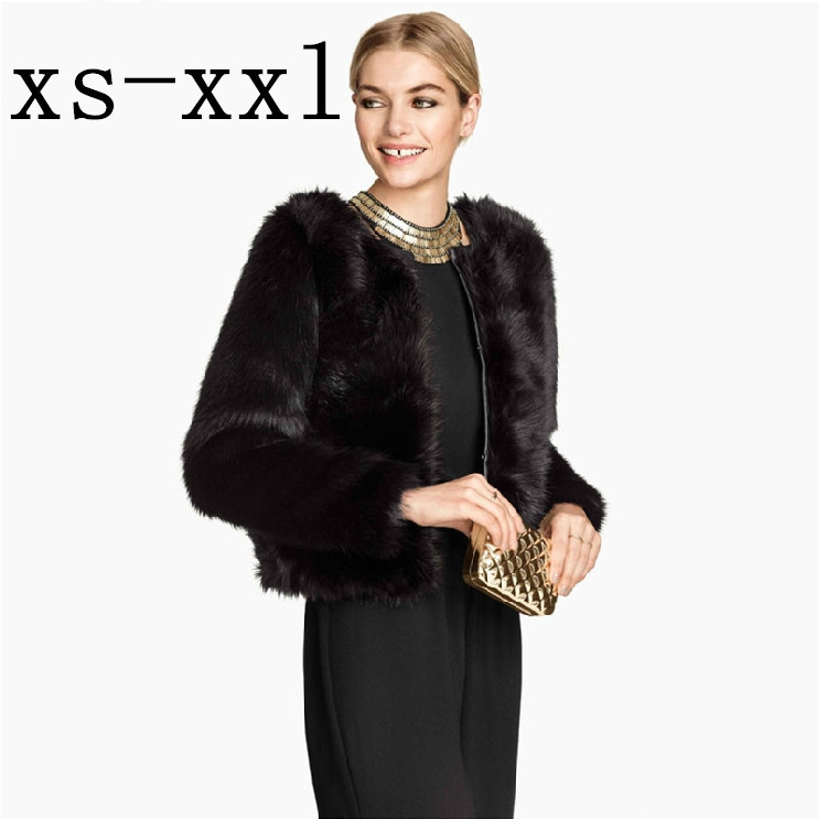 XS-XXL Spring New Arrival Fur Coat Of Women Fashion Luxury Faux Overcoat PU Patchwork Fastener Satin Lining Outerwear Одежда и ак�е��уары<br><br><br>Aliexpress