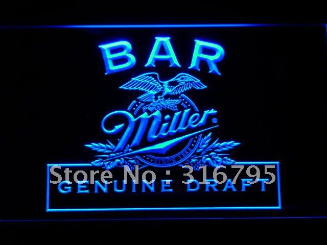 424-b Bar Miller Beer LED Neon Light Sign Wholesale Dropshipping(China (Mainland))