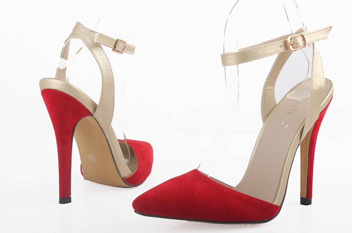 Free Shipping 2014 New Fashion Pointed Toe Stiletto Shoes Pumps(China (Mainland))