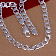 2014 Christmas gift,free shipping,Factory price,Wholesale Jewelry,925 silver Fashion Jewelry ,925 Silver 10mm Men Necklace N005