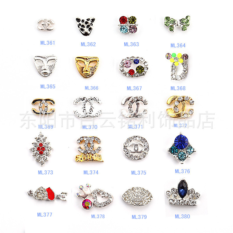 1000pcs BLING BLING 3D Nail Art Rhinestones Bow Mix Silver Metal Alloy Decoration Craft- ML101-1059,<br><br>Aliexpress