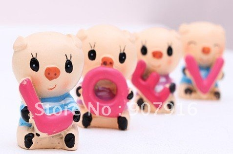 resin craft arts cute animal pig doll home decoration gift car for lover kids friends wedding novely creative S