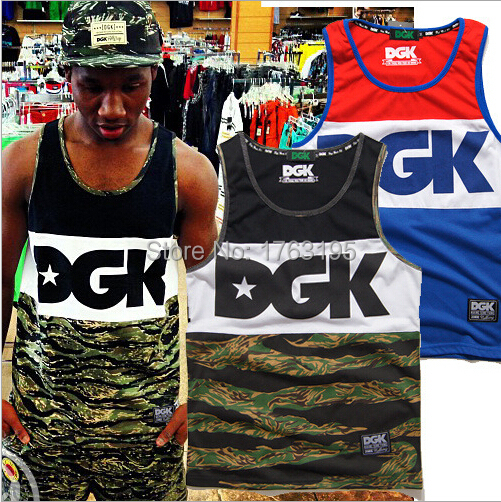 2015 New Hot Sales Casual Summer Brand Bodybuilding Tank Top DGK Mens Tanks Hiphop tops Golds Gym Fitness GYM Shark Men Tee Tops - Fashion Clothing Shop store