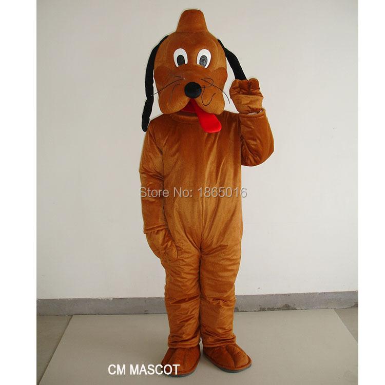 Cartoon Character brown Pluto dog Mascot costume Fancy Dress Halloween Party Costume(China (Mainland))