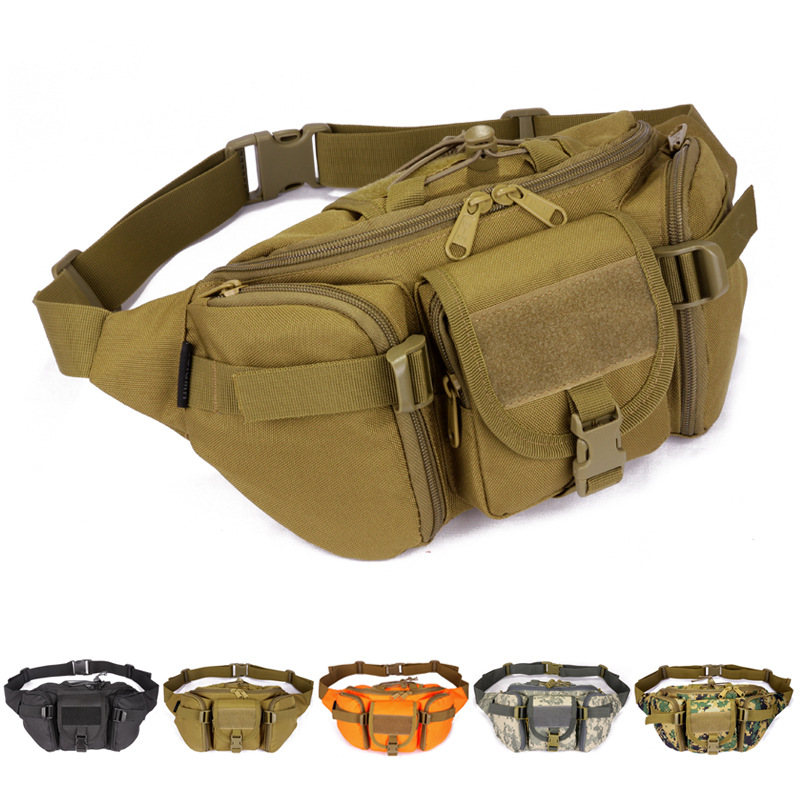 Гаджет  Waterproof Tactical men Waist bags Hip Package pochete outdoor sport casual Fanny Pack Hiking travel large army waist pack None Камера и Сумки