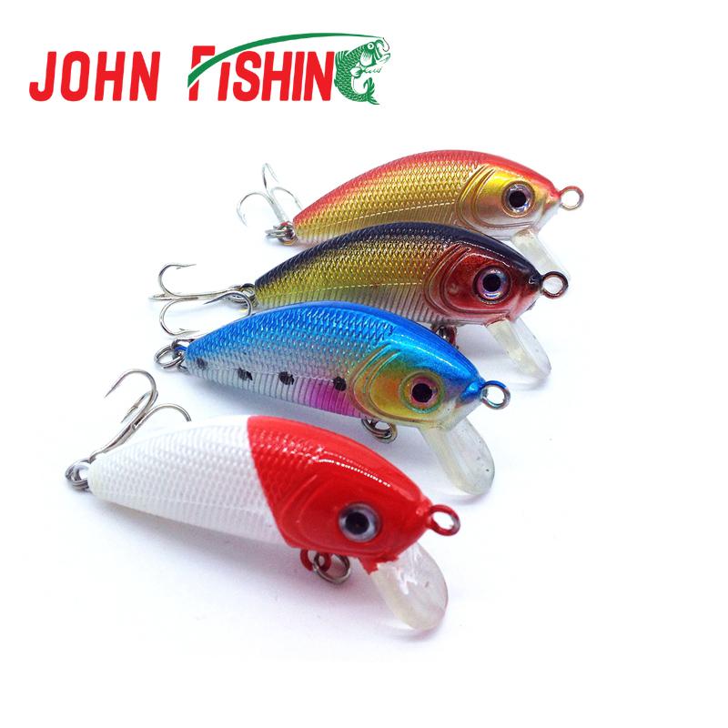 2015 Fishing Lure 4.5CM/4G Pesca Minnow Hard Bait Tackle 4pcs/lot Artificial Lures Swimbait Fish Wobbler Free shipping(China (Mainland))