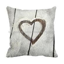 Love printed snowfield cushion cover with grey throw pillow case set