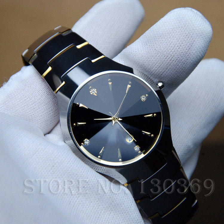 Mens Watches Top Brand Luxury Tungsten Steel Quartz Watch Women Dress Wristwatches Lovers Watch Quality Clock Business Casual(China (Mainland))
