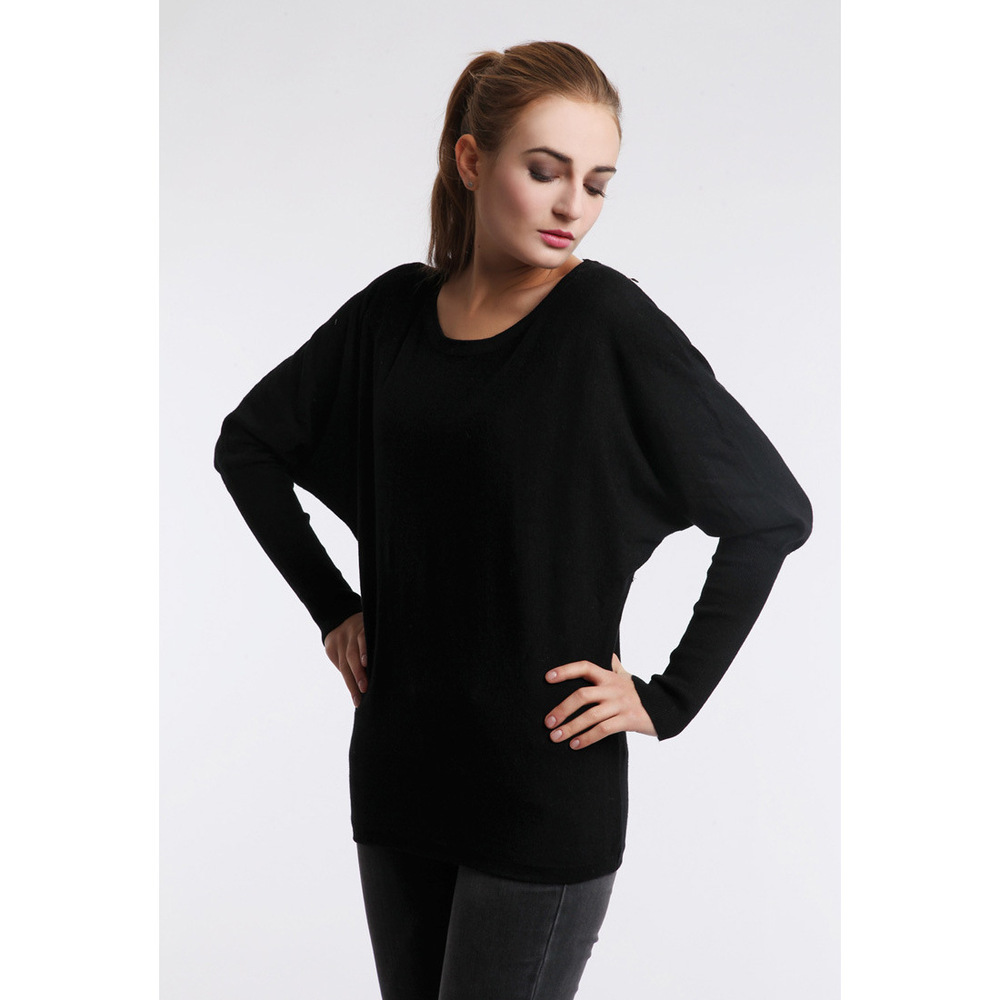 pullovers women bat sleeve female sweaters plus size clothing 2015 autumn casual thin loose o-neck knitted pullovers large sizes(China (Mainland))