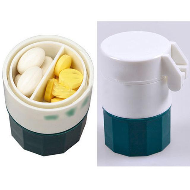 Мода Эффективного Таблетки Дробилка Измельчитель Splitter Хранения Pill Box Таблетки ...