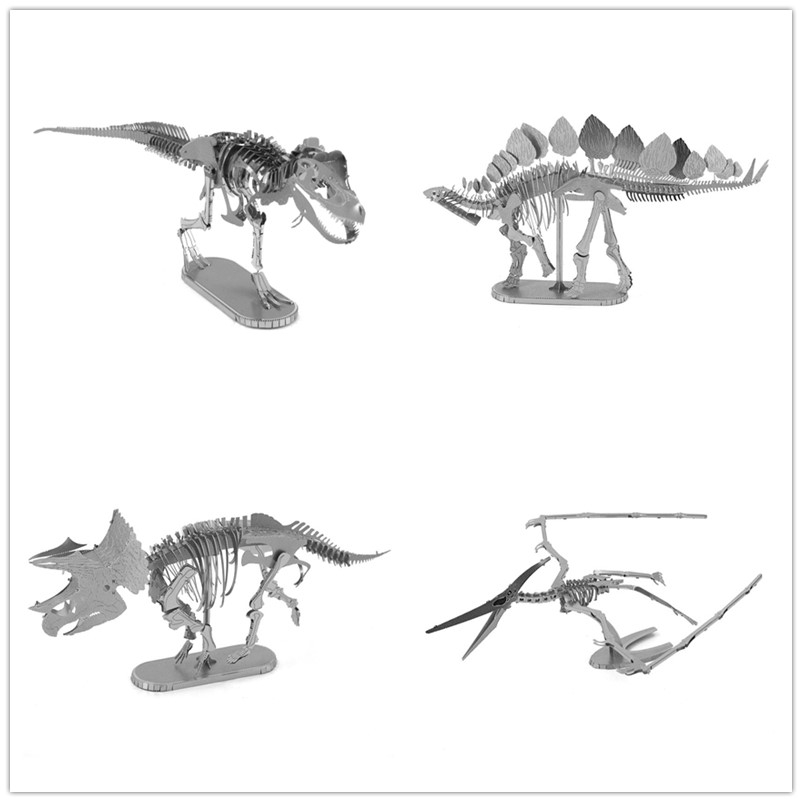Ancient overlord Jurassic Park Dinosaur series 4 styles Overlord dragon model 3D Metal assembled puzzle DIY WITH FASCINATIONS(China (Mainland))