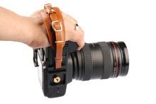 LYNCA  E1S Khaki Leather Camera Hand Wrist Strap For Canon Nikon  SONY SLR DSLR Cameras Photo Accessories