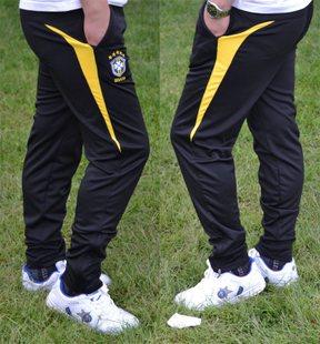 2013 Fashion Brazil Man's football pants Polyester soft Active legs pants soccer training pants sweapants sports pants L-4XL(China (Mainland))