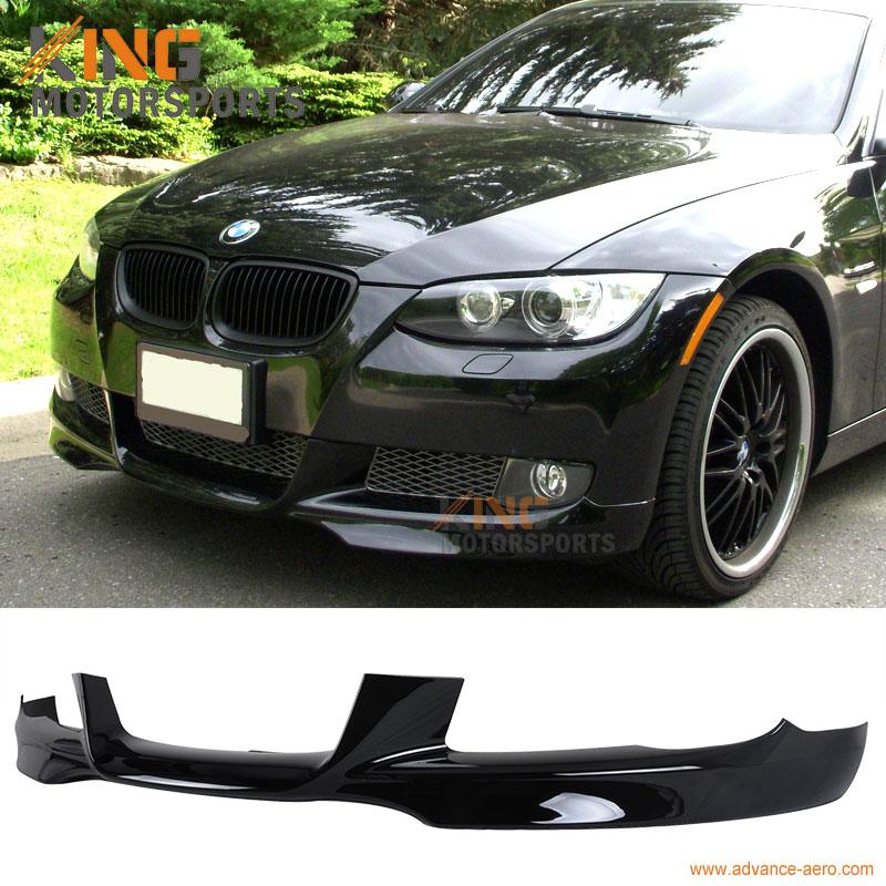 07 08 09 10 BMW E92 E93 3-Series M-Tech Style Front Bumper Lip # 668 Painted Jet Black
