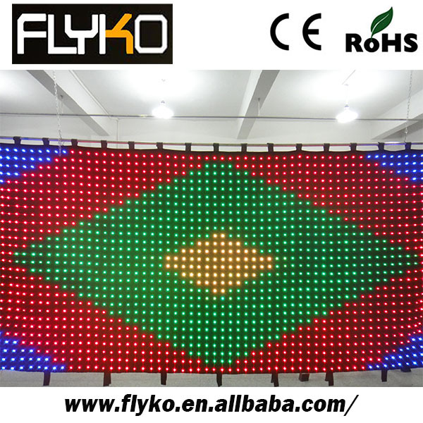 Free shipping 2*4m P7CM buy cheap video led curtain led curtain video wall(China (Mainland))