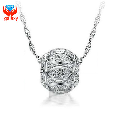 New Trendy 2015 Transfer Good Luck Bead Pendant Necklace for Women 925 Sterling Silver Necklace Jewelry Gift Wholesale ZN078(China (Mainland))