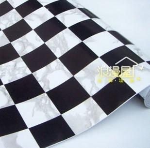 Pvc autoadhesivo papel pintado a cuadros blanco y negro - Papel pared autoadhesivo ...