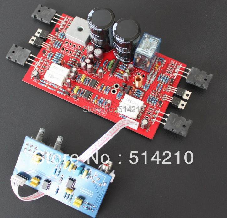 New discrete 300W mono subwoofer amplifier board have a fever with low pass filter plate loudspeaker protection (finished board)(China (Mainland))
