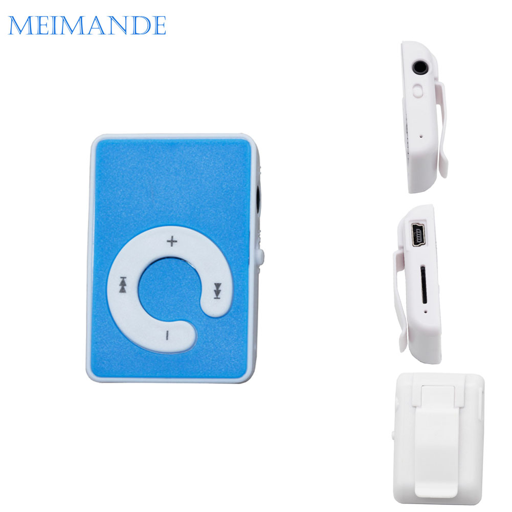Mini Mirror C Type MP3 Clip Plugin Card Smart Music Player Portable Sports Leisure Perfect Sound MP3 Player Memory Play(China (Mainland))